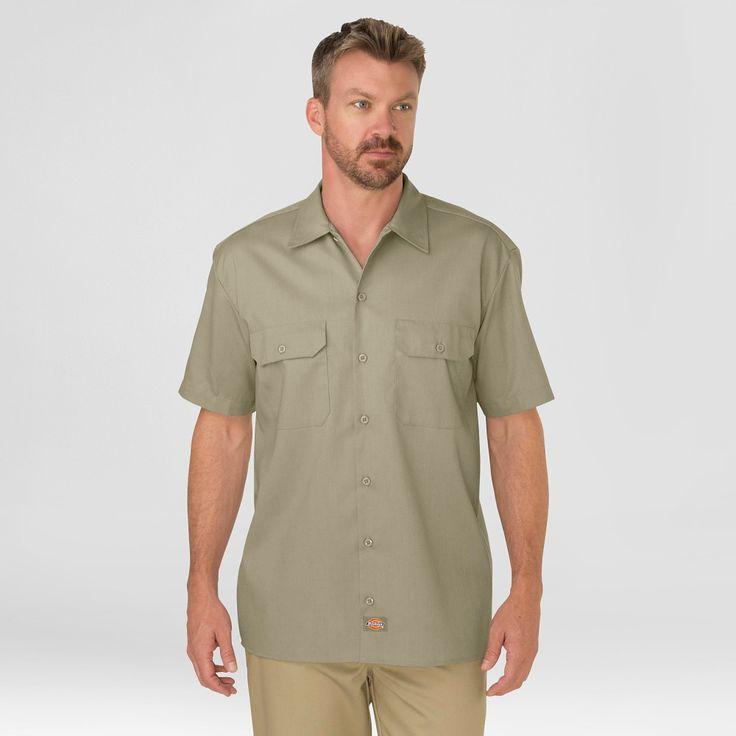 Dickies Men's Big & Tall Original Fit Short Sleeve Twill Work Shirt- Desert Sand Xxxl Tall