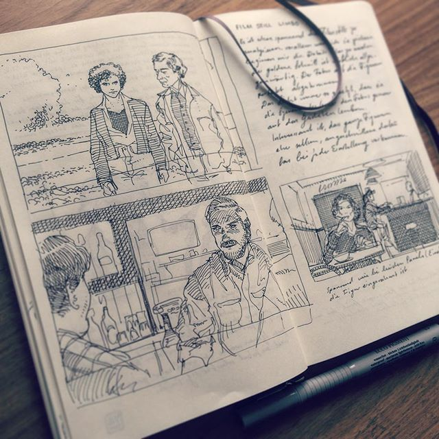 Learning a lot while studying film stills. Besides I work on the storyboard for the fall comic.