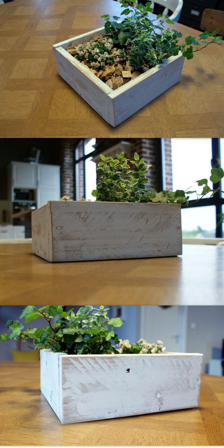 DIY DECO- Pot de fleur sur table en palette de bois !