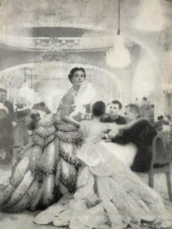 Christian Dior Junon dress, by Richard Avedon in 1949.