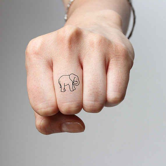This tiny minimalist elephant tattoo — $2.99