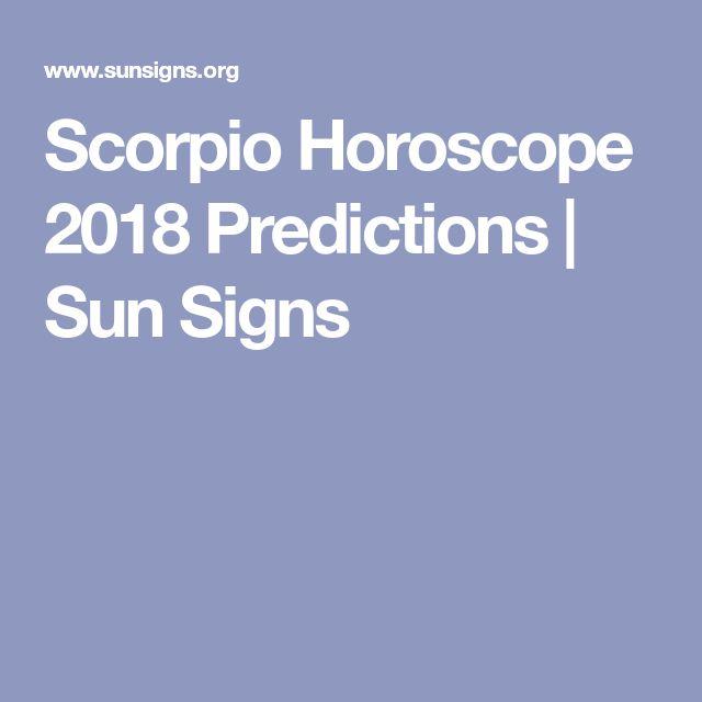 Scorpio Horoscope 2018 Predictions | Sun Signs
