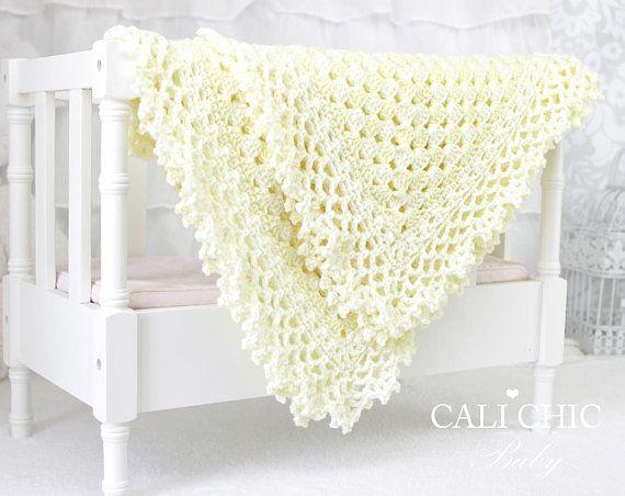 87f32adc27254 Crochet Baby Blanket PATTERN Freesia 143, Baby Afghan Pattern ...