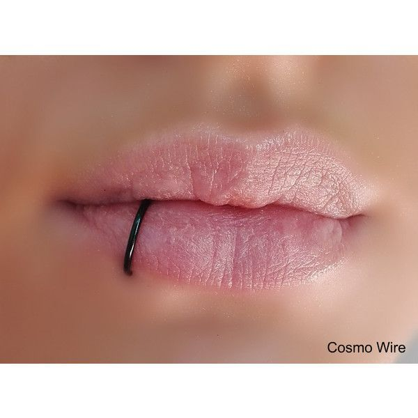 SILVER PLATED Fake lip ring.Fake lip piercing.Ring. Gold,... ❤ liked on Polyvore featuring jewelry, piercings, accessories, silver jewelry, silver wire jewelry, gold jewelry, silver jewellery and silver plating jewelry
