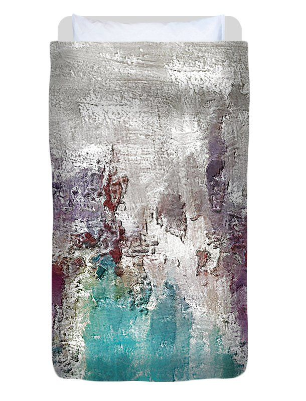 Abstract Duvet Cover featuring the digital art Omission by Riccardo Zullian