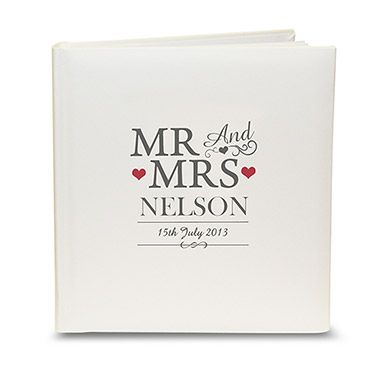 Mr and Mrs Personalized Traditional Photo Album