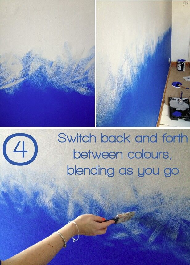 Wall Paint Styles: Once You've Joined Both Colours Together, Go Back Over The