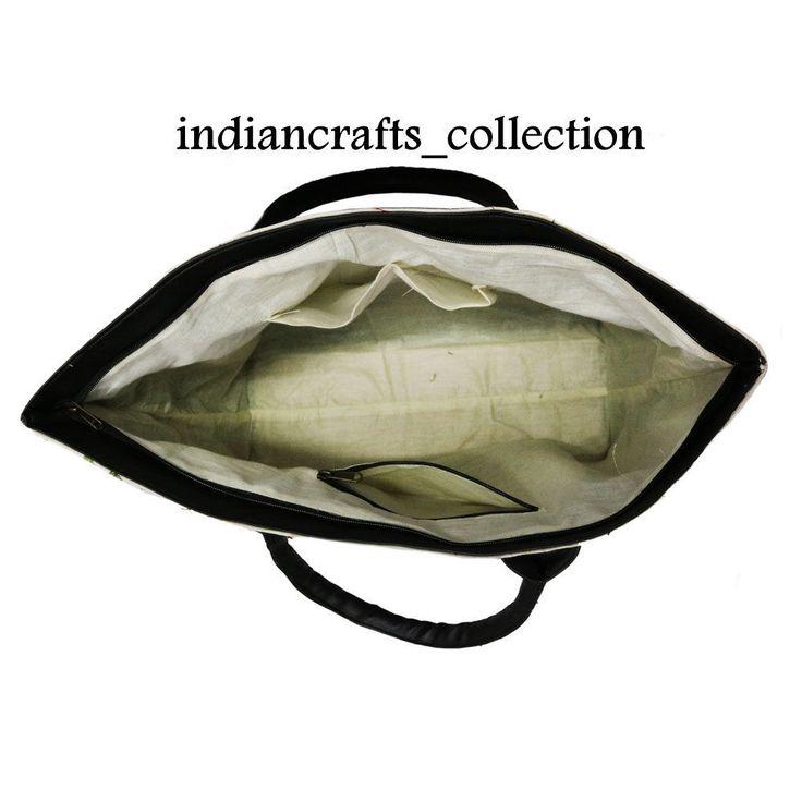 Indian Cotton Woman Shoulder & Suzani Embroidery Handbag Tote Bag Beach Boho Bag #Handmade #ShoulderBag