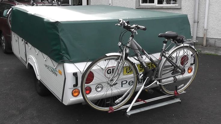 Camper Holding Tank >> Bike carrier and folding camper UKCampsite.co.uk Trailer Tents, Folding Campers, and Folding ...