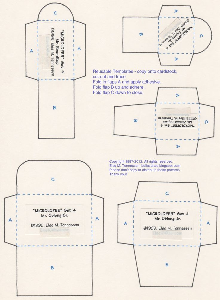 ENVELOPE TEMPLATES - Download Microlopes Set 1 - A long time ago, in a galaxy far, far away, I had a little craft company named Chilipeppers. I worked out of ...