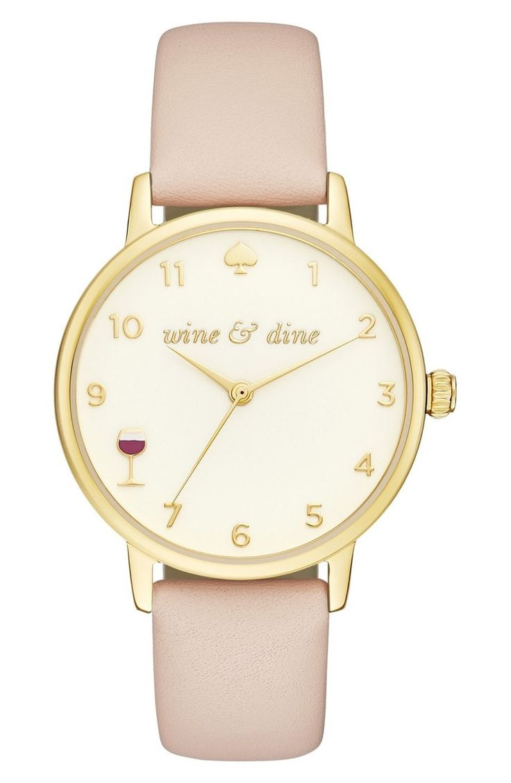 By 8 o'clock, you'll be craving wine after staring at this darling Kate Spade watch all day.