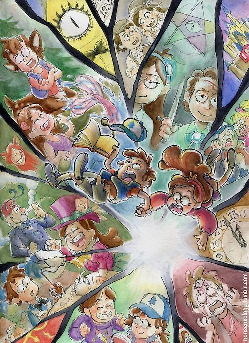 The Pones Twins traveling through every AU fans have created>>>PINES. What is the one where Dipper is screaming his head off?