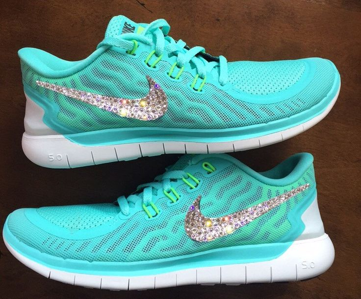 Swarovski Bling Nike Free 5.0 Teal Neon by GoldHomeCouture on Etsy Clothing, Shoes & Jewelry - Women - nike women's shoes - http://amzn.to/2kkN5IR