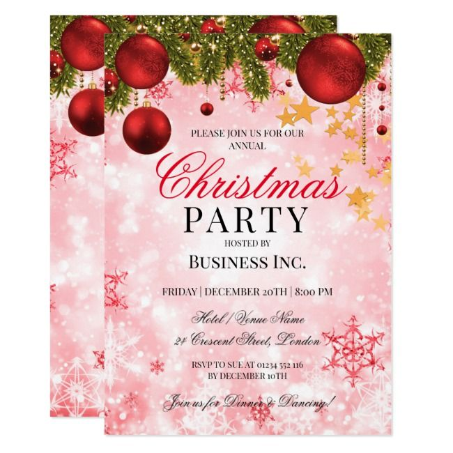 Holiday Party Invitation Zazzle