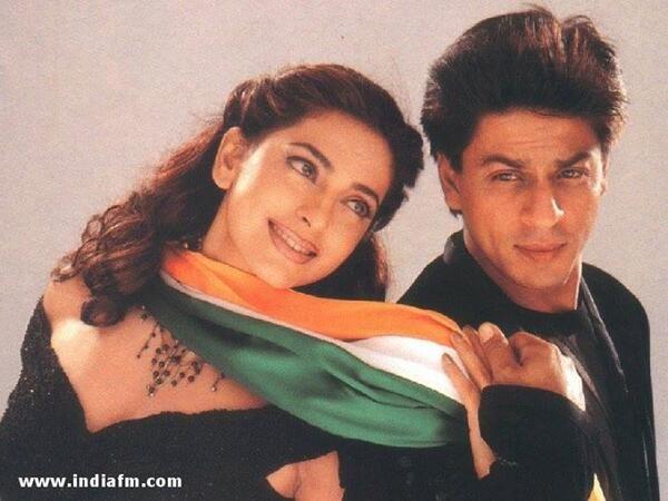 Embedded image permalink-Old Still: SRK and Juhi Chawla in Phir Bhi Dil Hai Hindustani.