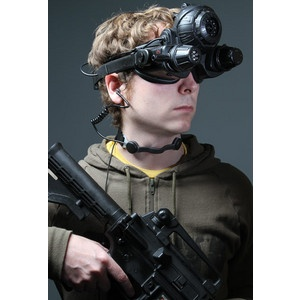 Black Ops Throat Mic iPhone Headset   No such thing as over prepared.. Perfect for Motorcycles or Armed Combat.   $119.99