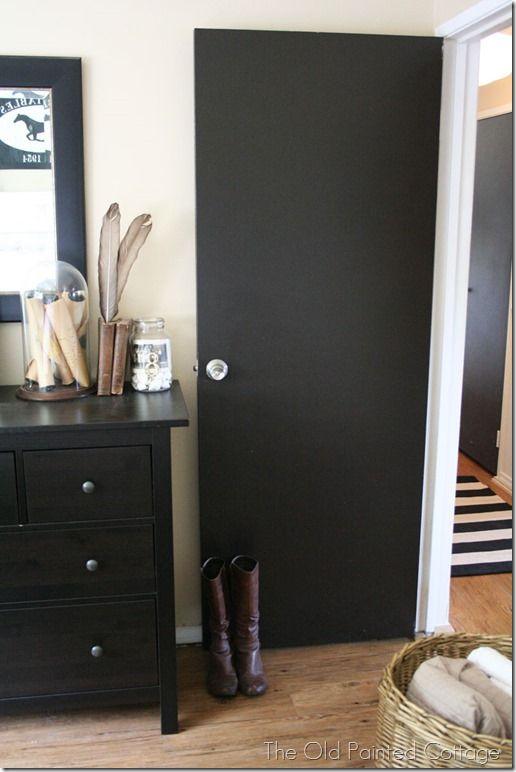 plain black hollow core door