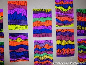 """Brighten up your room with this """"I am"""" Art Project - love the teacher's idea for getting positive adjectives from the students"""