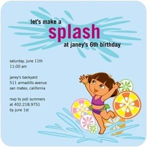 summery birthday party invites: Birthday Party Invitations, Pool Parties, Dora Birthday, Birthday Parties, Pool Birthday, Party Ideas, Birthday Ideas