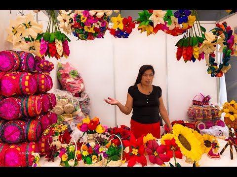 Artesanía decorado en hojas de maíz de Guerrero - YouTube