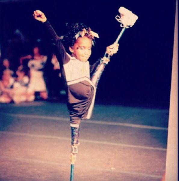 dedication & heart, this little girl is my hero