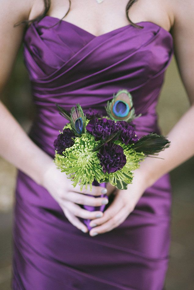 Purple Bridesmaid Dress & Bouquet - WEBER PHOTOGRAPHY BY WES + LIZ, Featured on WedLoft