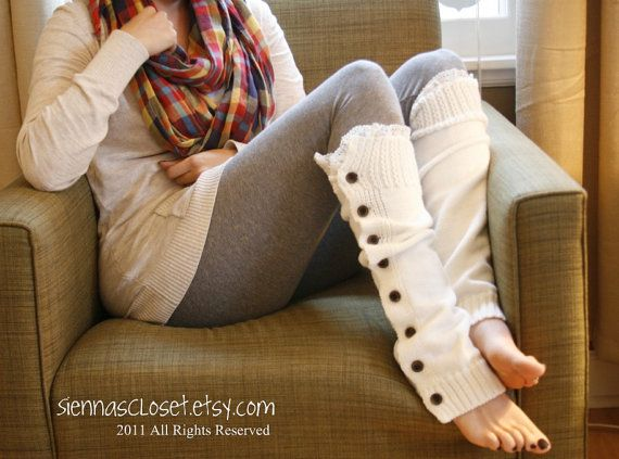 Button Down Legwarmers - LOVE! Need for winter