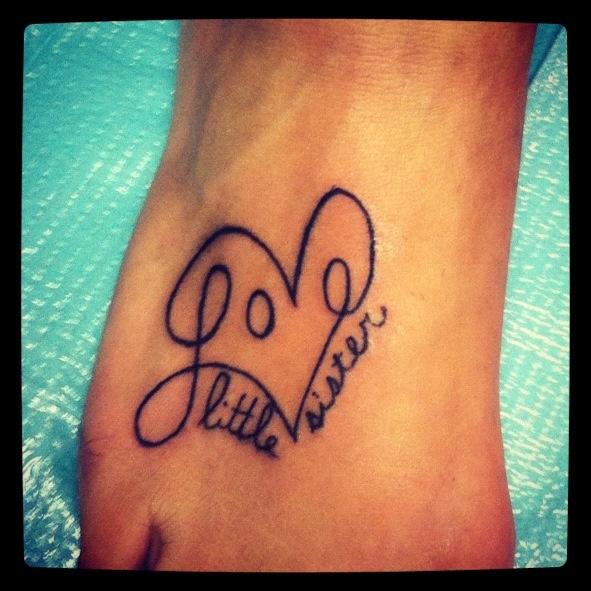 Lil sis big sis tattoo ideas pinterest tattoo for Big sister and little sister tattoos
