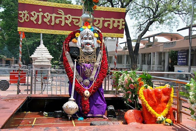""". Villagers never keep their valuables under lock and key. Villagers believe that the temple is a """"jagrut devasthan"""" meaning """"alive temple"""", meaning that the god here is very powerful. They believe that god Shani punishes anyone attempting theft."""
