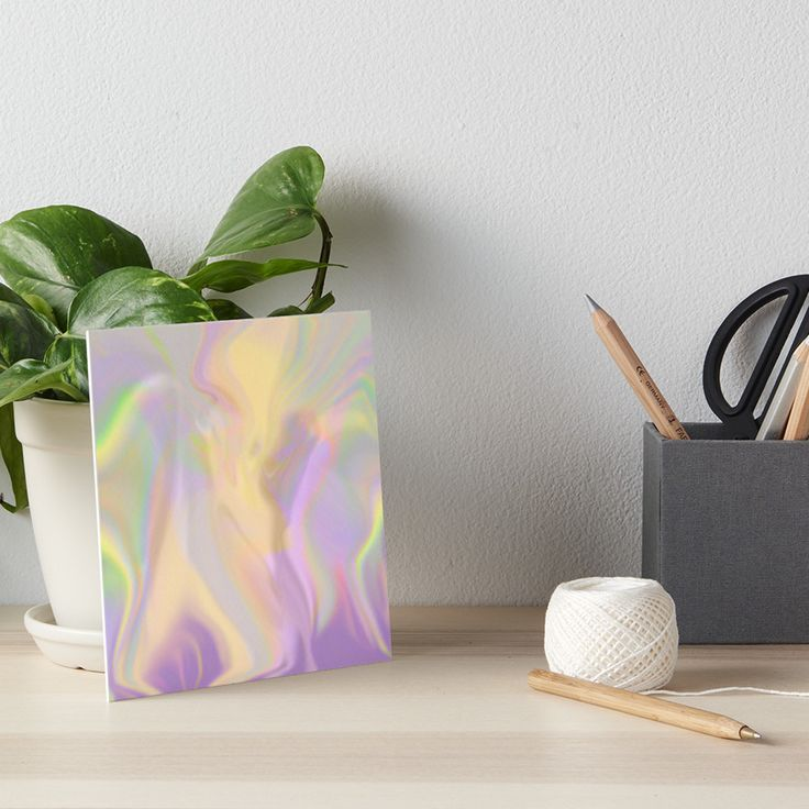 Mixed Rainbow Art Board by Terrella.  A fuzzy mixed up rainbow. • Also buy this artwork on wall prints, apparel, phone cases, and more.