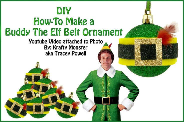 How-To Make a Buddy The Elf Belt Ornament