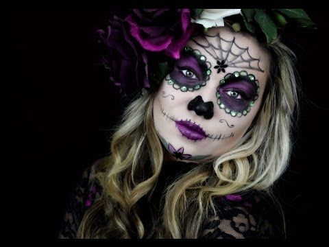 Sugar Skull Makeup - YouTube