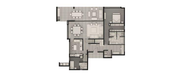 Modelo B del proyecto Terrazas de Chicureo - Inmobiliaria Aconcagua