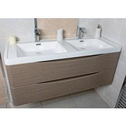 Motiv 1200 Wall Mounted Double Basin Vanity Unit - Aquabliss