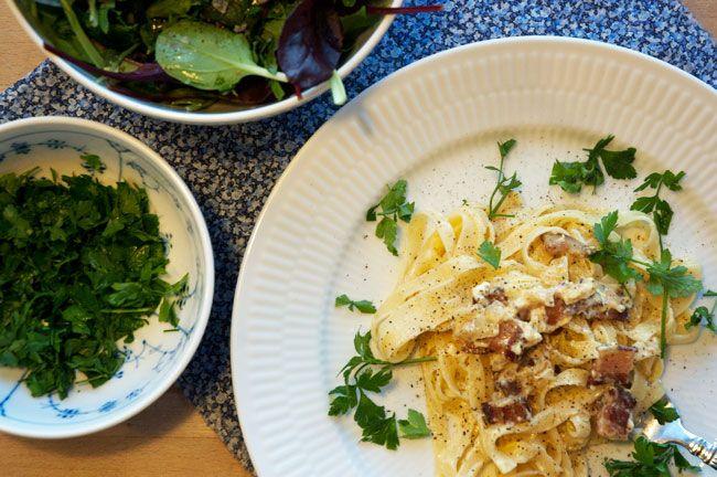 Lækker og cremet Pasta Carbonara