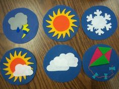 Felt weather board made by Katie of Storytime Katie using my free tutorial!
