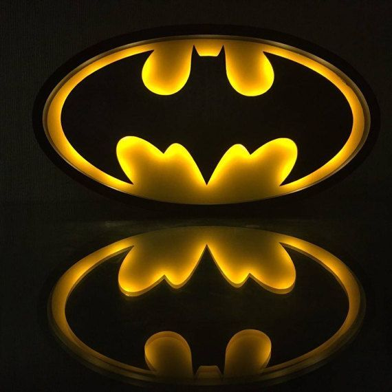 Batman Night light Gift for men Batman Batman gift idea Heroes decor Batman sign