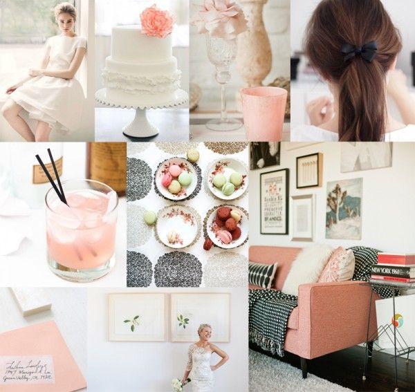 Pink-Black-White-Wedding-Colors; http://www.elizabethannedesigns.com/blog/2012/04/02/pink-white-black-wedding-colors/