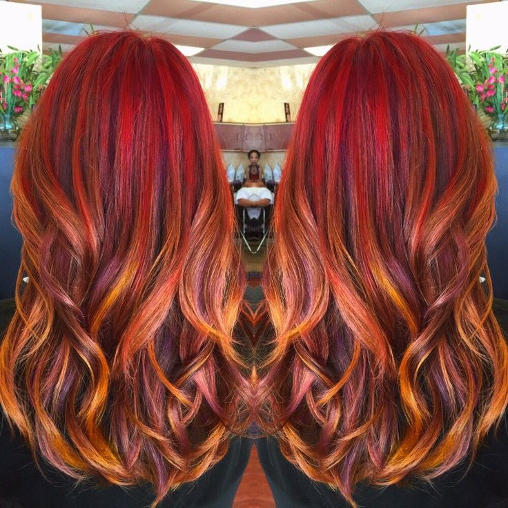 Sunset hair color.