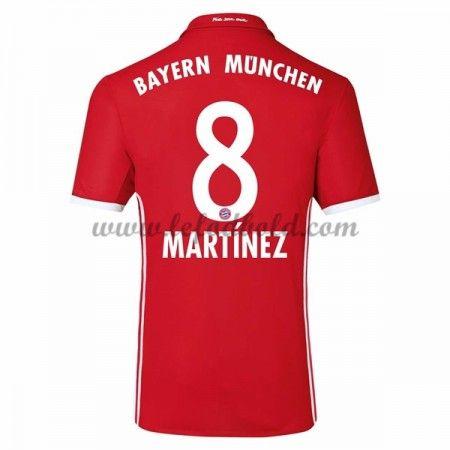 Billige Fodboldtrøjer Bayern Munich 2016-17 Martinez 8 Kortærmet Hjemmebanetrøje