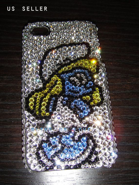 Bling smurf  iPhone 4/4s case made with Swarovski by beasupshop, $39.99