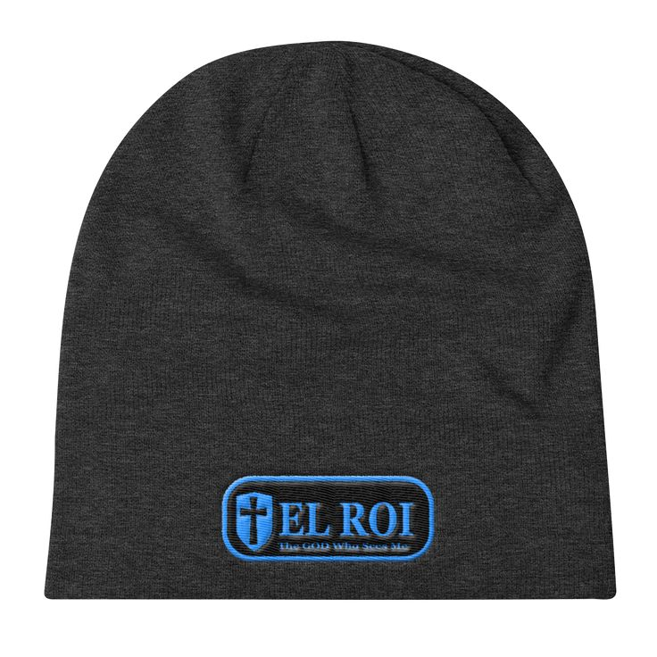 Knit Slouch Beanie(3D EL ROI, The LORD GOD Who Sees ME