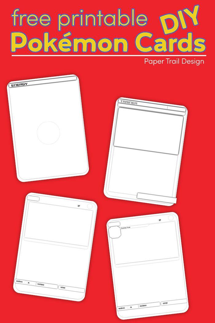 Pokemon Card Template Free Printable Paper Trail Design Pokemon Card Template Printables Free Kids Diy Pokemon Cards