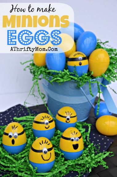 Minions Eggs, How to make Minions Easter Eggs