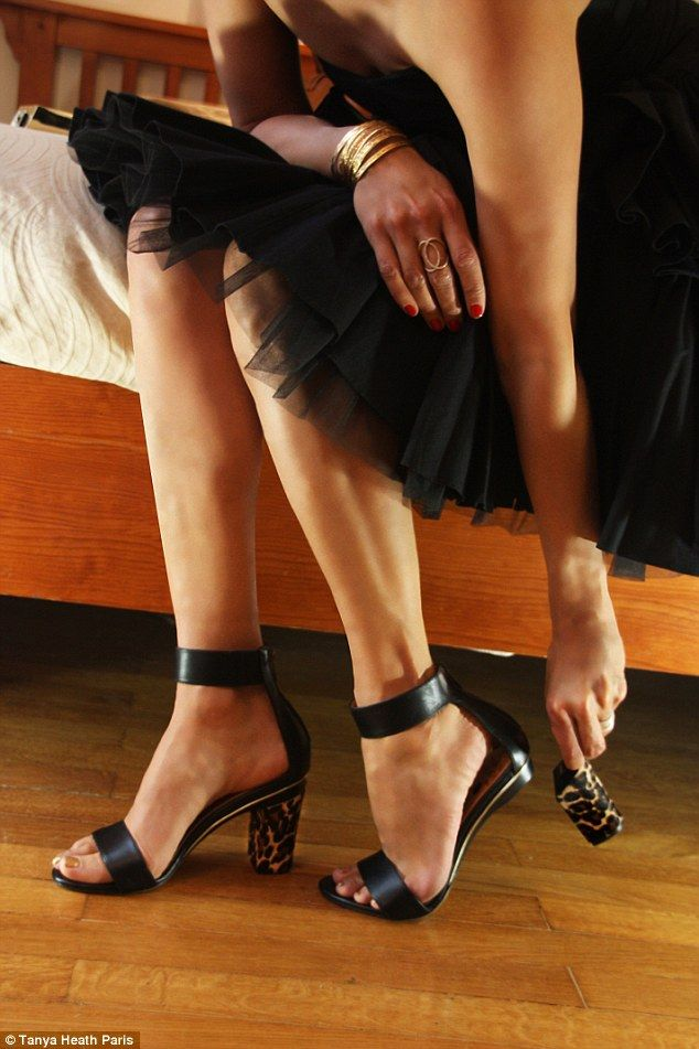 Tanya Heath Paris - Interchangeable Heels features hundreds of heel varieties that slide and click into place, and can be released at the push of a button...x