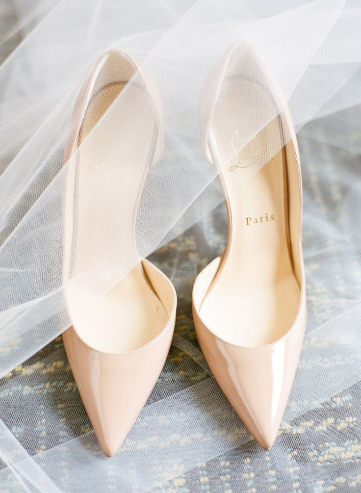 christian louboutin nude pigalle bride shoes  Château des Charmes Winery Wedding | Niagara-on-the-Lake | photo by: ARTIESE