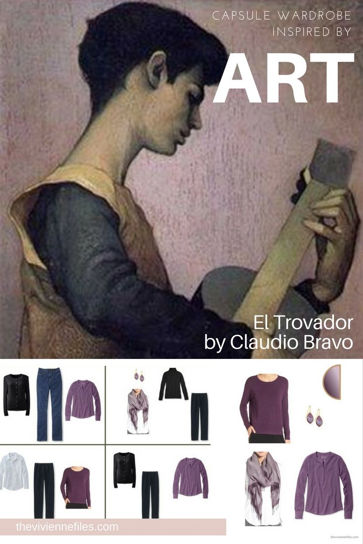 Capsule wardrobe color palette inspired by art: El Trovador by Claudio Bravo
