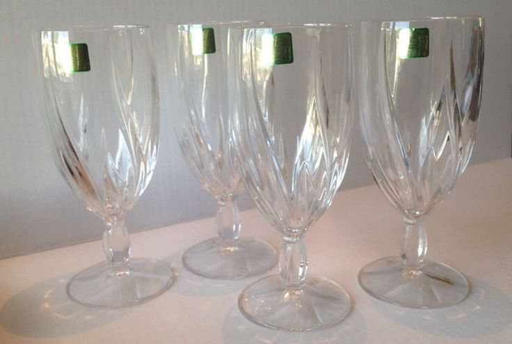 Beautiful Set 4 Crystal Marquis by Waterford Wine Glasses Goblet Stemware NEW #Waterford