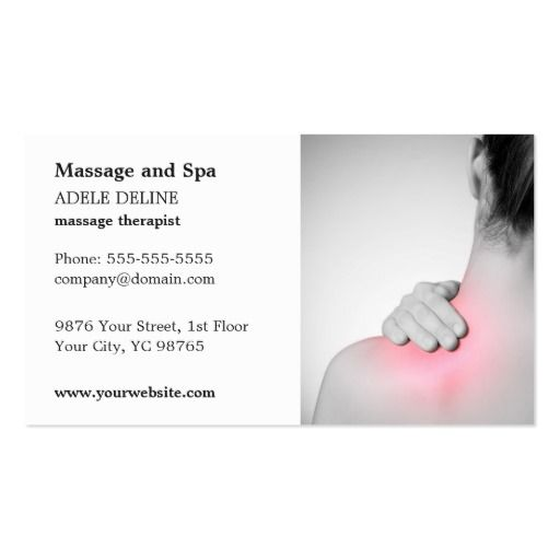 305 best massage business cards images on pinterest for Massage therapy business card templates