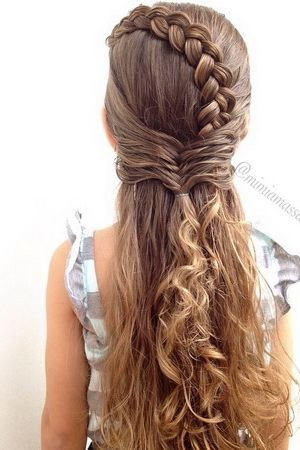 Reverse French braid & Fishtail braid